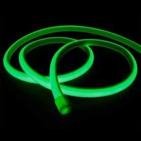 Ruban LED néon vert 12V étanche 5m. Lumière continue haute intensité
