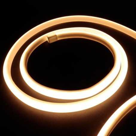 Kit ruban led néon blanc chaud étanche IP68 5m avec boitier piles