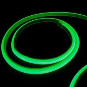 Kit ruban led néon vert étanche IP68 5m avec boitier piles