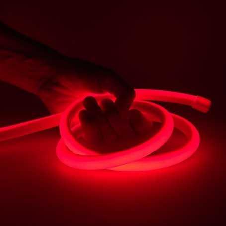 Kit ruban led néon rouge étanche IP68 5m avec alimentation 220V
