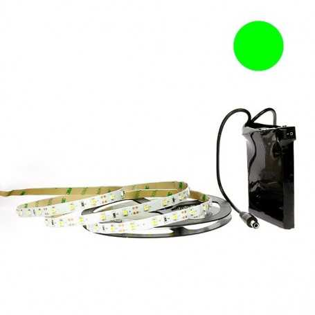 Kit bande led verte 60led/m IP20 5m avec batterie 1800mAh