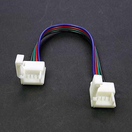 Raccord rapide souple pour bande led RGB étanche IP65