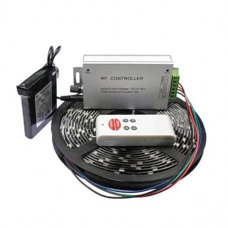 Kit ruban led RGB 5m avec capteur de son et batterie rechargeable 1800mAh