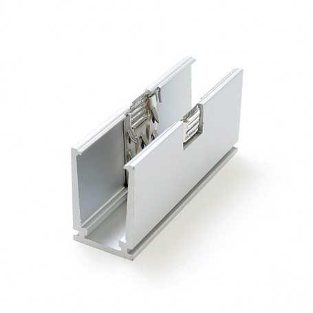 U de fixation en aluminium pour led néon flex slim