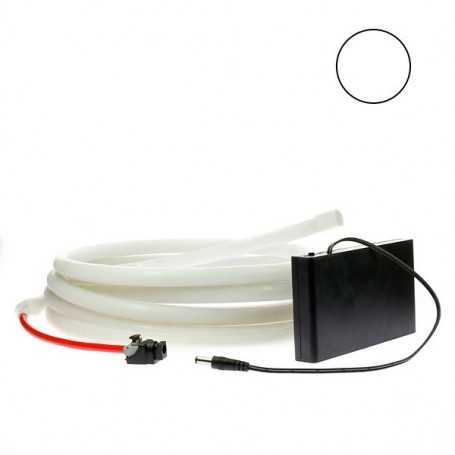 Kit ruban led néon blanc étanche IP68 2m50 avec boitier piles