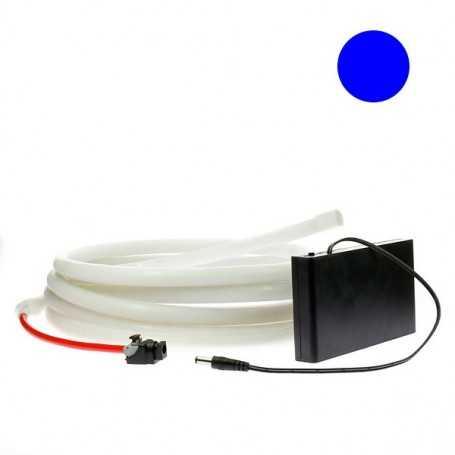 Kit ruban led néon bleu étanche IP68 2m50 avec boitier piles