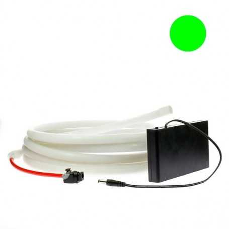 Kit ruban led néon vert étanche IP68 2m50 avec boitier piles