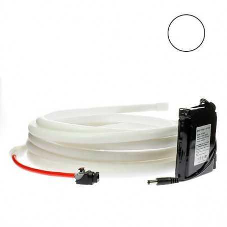 Kit ruban led néon blanc étanche IP68 2m50 avec batterie 4200mAh