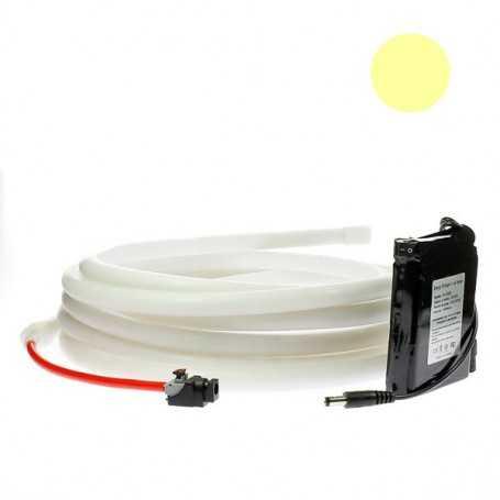 Kit ruban led néon blanc chaud étanche IP68 2m50 avec batterie 4200mAh