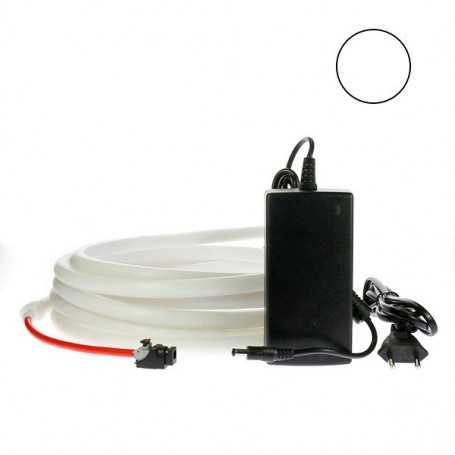 Kit ruban led néon blanc étanche IP68 2m50 avec alimentation 220V