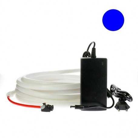 Kit ruban led néon bleu étanche IP68 2m50 avec alimentation 220V