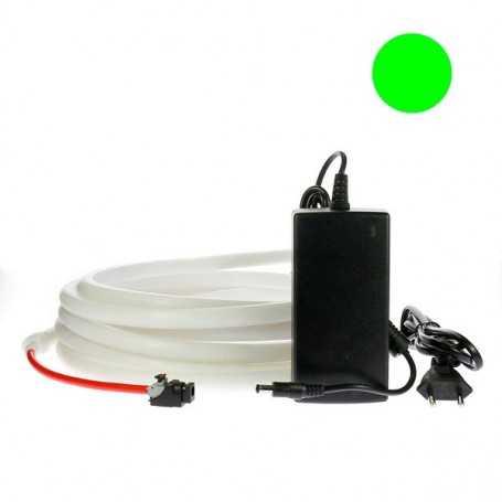 Kit ruban led néon vert étanche IP68 2m50 avec alimentation 220V