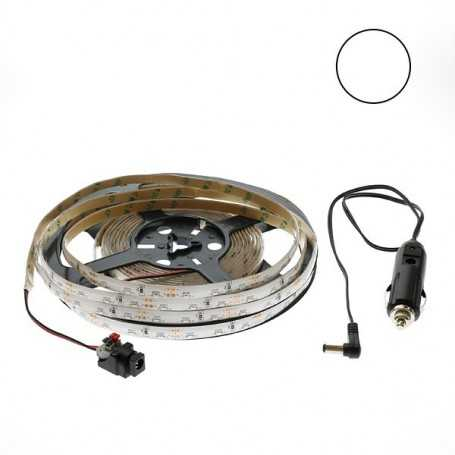Kit bande led side blanche 60led/m étanche 5m 12V tuning auto