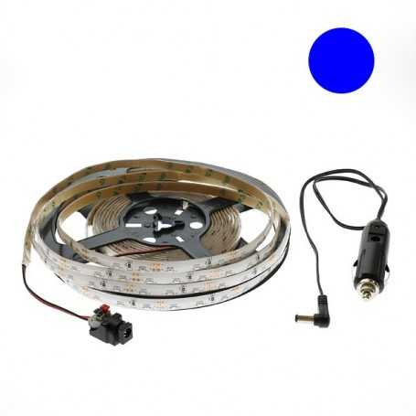 Kit bande led side bleue 60led/m étanche 5m 12V tuning auto