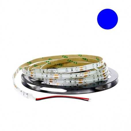 Kit bande led bleue 60led/m étanche 5m 12V tuning moto