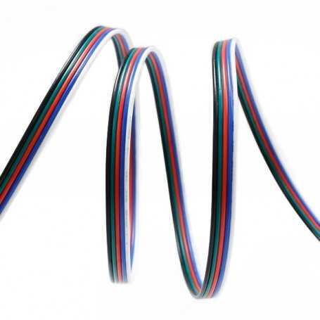 Câble électrique pour bande led RGBW et RGBWW