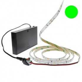Pack bande led éclairage latéral vert avec boîtier piles