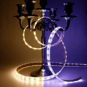 Bande LED RGBWW avec un blanc chaud 12V 60LED/m étanche 5m