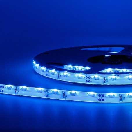 Bande led éclairage sur le côté bleu 2m50 - 60 led au mètre