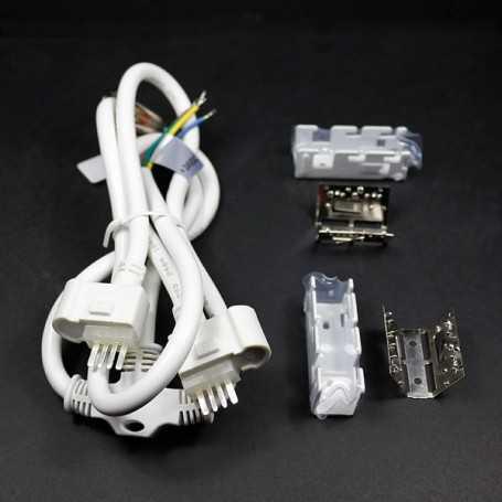 Connecteur d'alimentation 2 néons led bulbe RGB