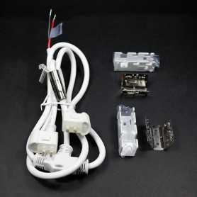 Connecteur d'alimentation 2 néons led bulbe monocouleurs