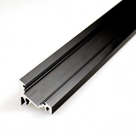 Profilé led d'ANGLE en aluminium NOIR de 1m au détail
