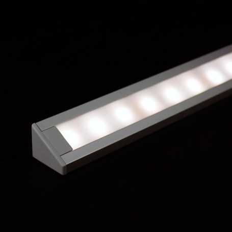 Kit profilé led d'ANGLE en aluminium de 1m avec diffuseur blanc
