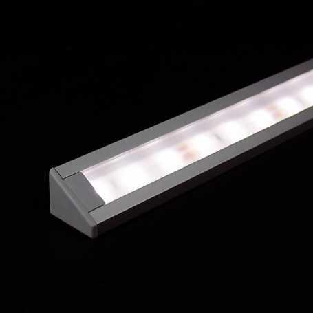 Kit profilé led d'ANGLE en aluminium de 1m avec diffuseur givré