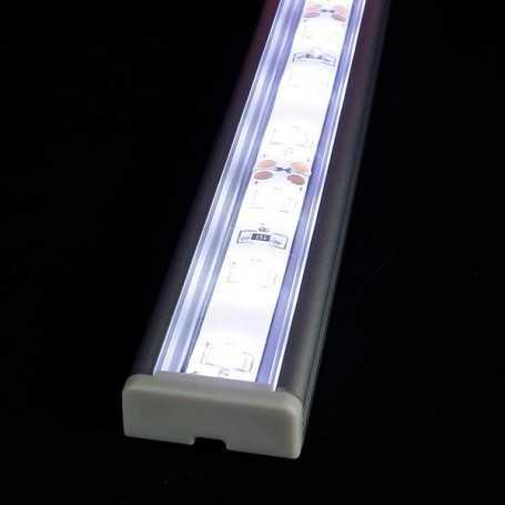 Kit profilé alu SAILLIE XL de 1m avec diffuseur transparent