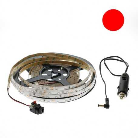 Kit bande led side rouge 60led/m étanche 5m 12V tuning auto