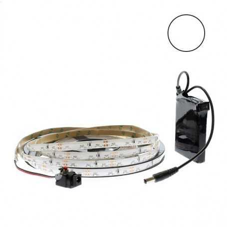 Ruban led side view blanc 2,5m avec batterie rechargeable