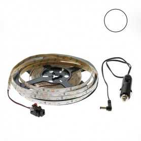 Kit bande led side blanche 60led/m étanche 2m50 12V tuning auto