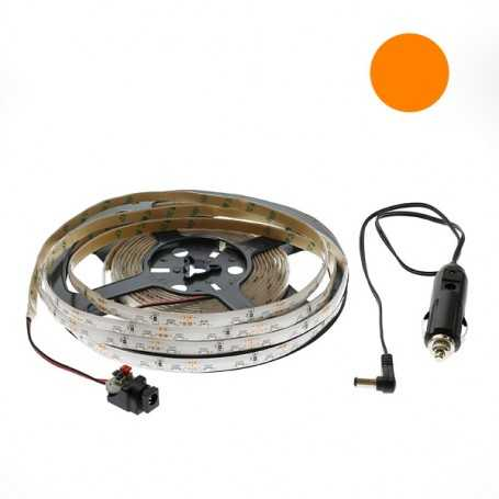 Kit bande led side orange 60led/m étanche 2m50 12V tuning auto
