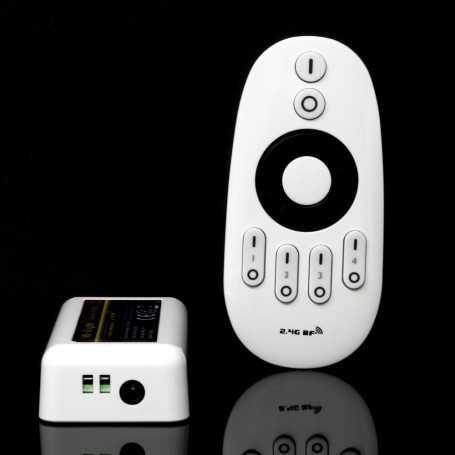 Contrôleur CCT multizone + télécommande pour bande led blanc ajustable