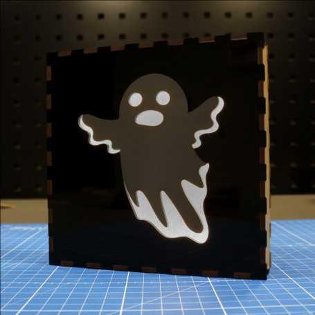Lampe déco Fantôme de Halloween - Choix de la couleur LED