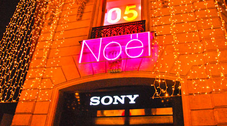 Néon led flexible rose Sony Paris