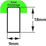 Diffusion lumineuse néon led slim