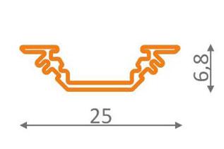 Profilé led aluminium encastrable
