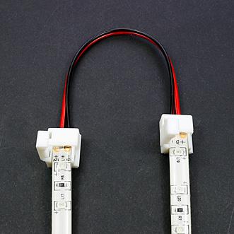 Connecteur rapide souple 2 bandes leds monocouleurs étanches - tutoriel étape 1