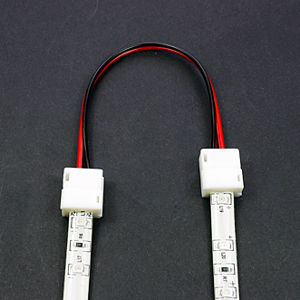 Connecteur rapide souple 2 bandes leds monocouleurs étanches - tutoriel étape 2