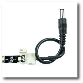 Connecteur rapide bande led avec alimentation
