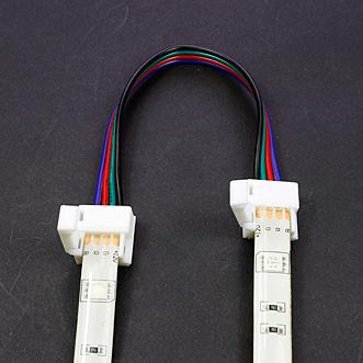 Connecteur rapide souple 2 bandes leds RGB étanches - tutoriel étape 1 tutoriel étape 1