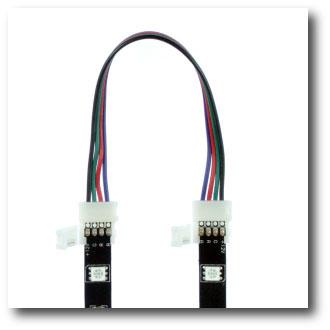 Connecteur rapide souple 2 bandes leds RGB tutoriel étape 1