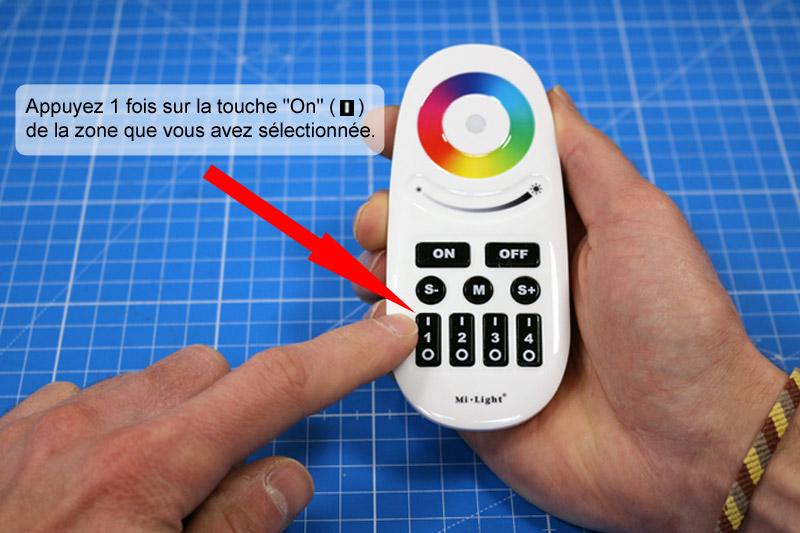 Appairage de la télécommande au contrôleur RGB