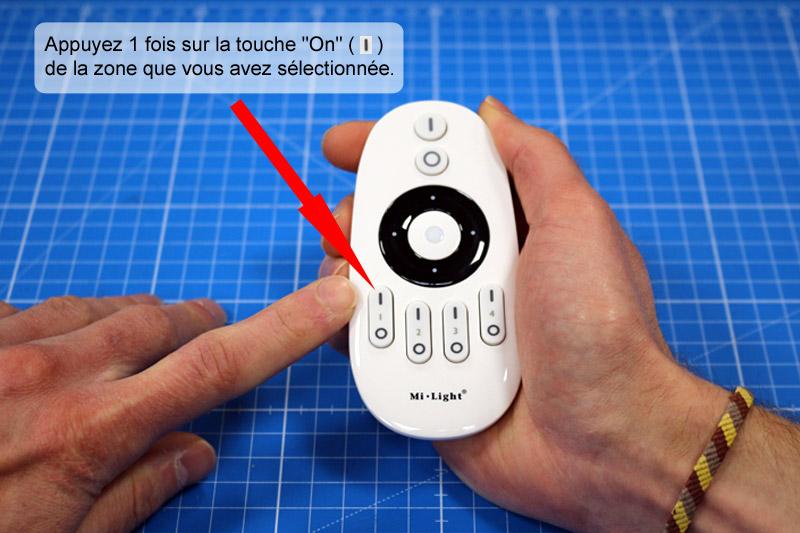 Appairage de la télécommande avec le variateur LED.