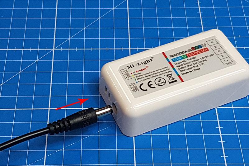 Branchement du contrôleur LED RGBW