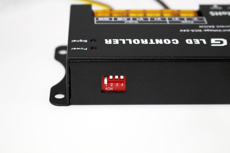 Dip switch du contrôleur blanc ajustable