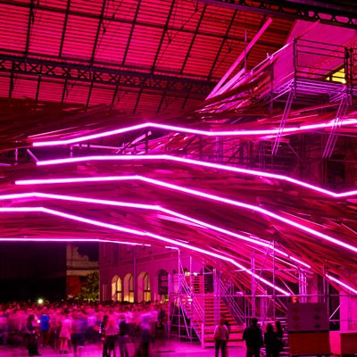 Néon LED flexible au Vortex de Bordeaux